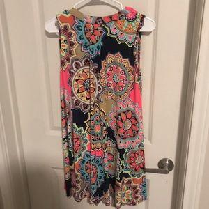 Rainbow floral hippie dress